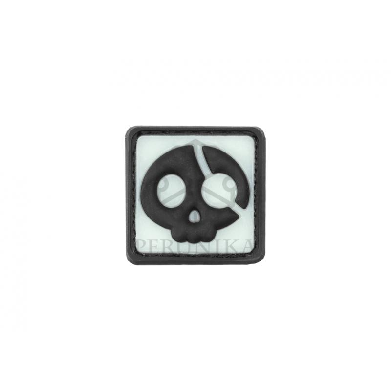 Velcro PVC našitek JTG Halloween Pirate - črn