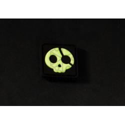 Velcro PVC našitek JTG Halloween Pirate - green glow