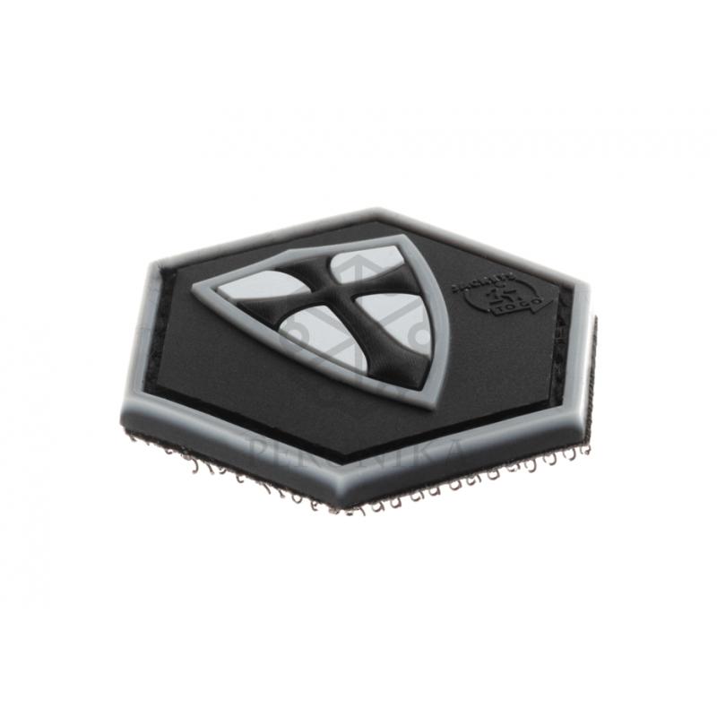 Velcro PVC našitek JTG Crusader shield - črn