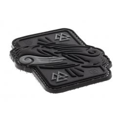 Velcro PVC našitek JTG Odin's Ravens - črn