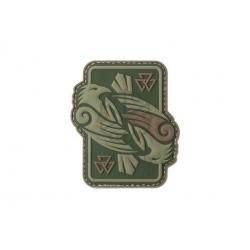 Velcro PVC našitek JTG Odin's Ravens - olivno zelen