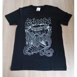 Merino majica s kratkimi rokavi Bogatyr Svantevit - črna