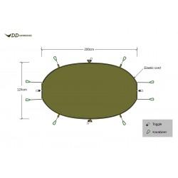 Izolacijska odeja za visečo mrežo DD Hammocks - olivno zelena