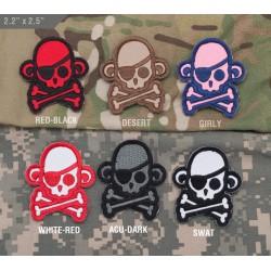 Velcro našitek MSM Skullmonkey Pirate