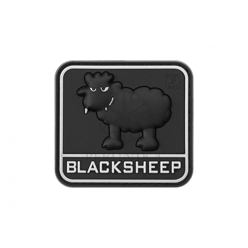 Velcro PVC našitek Black Sheep - črn
