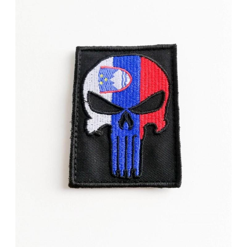 Velcro našitek Perunika Punisher - Full colour