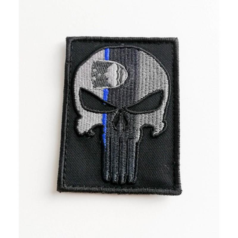 Velcro našitek Perunika Punisher - Thin blue line