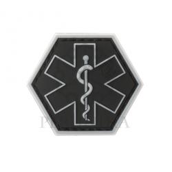 Velcro PVC našitek JTG Paramedic Hexagon - črn