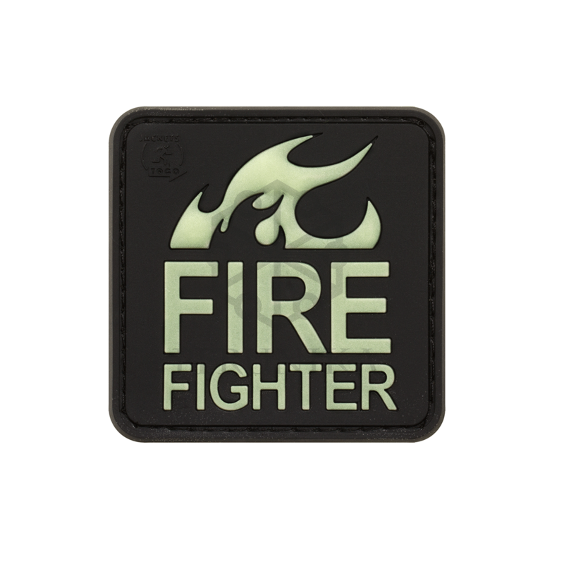 Velcro PVC našitek JTG Fire Fighter - green glow