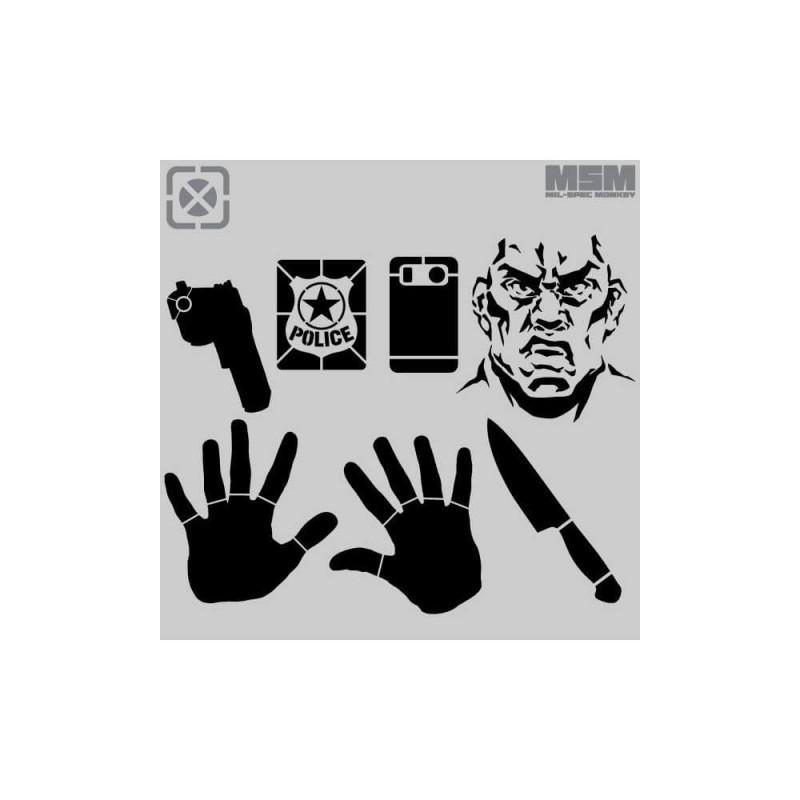 Šablone za tarče Mil-Spec Monkey Target ID