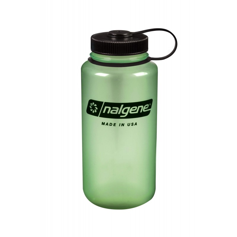 Steklenica za vodo Nalgene Wide Mouth 1 L - Green glow