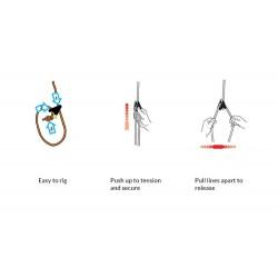 Zategovalci za vrvice šotora/tarpa DD Hammocks Line-Loks, set 8 kos - diagram