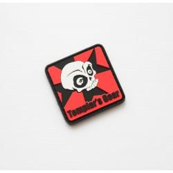 Templar's Gear Logo PVC Velcro patch - rdeč