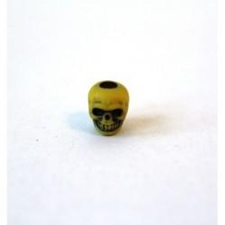 Perunika Paracord Skull Beads - rumena