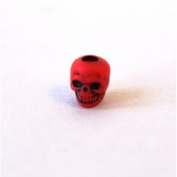 Perunika Paracord Skull Beads - Red