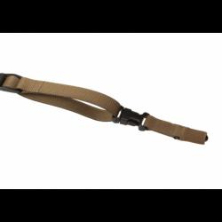 Dvotočkovni pas za puško Clawgear QA Snap Hook - kojot