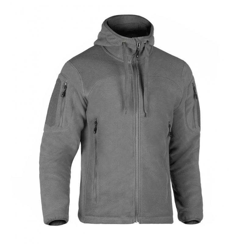 Flis jakna s kapuco Clawgear Milvago MK. II - svetlo siva