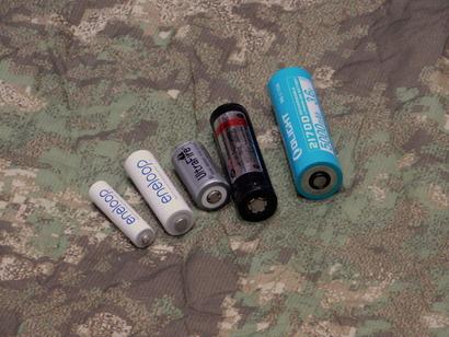 Različne velikosti baterij